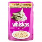 Hrana umeda pentru pisici Whiskas, vitel si mazare in sos alb, 100 g
