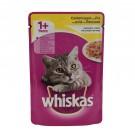 Hrana umeda pisici Whiskas adult, cu aroma pui 100 gr