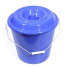 Galeata din polipropilena cu capac, rotunda, diverse culori, 16 L