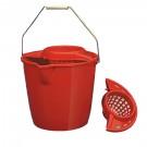 Galeata din plastic cu storcator Plastina, rosie, 10L