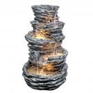 Fantana arteziana decor Grunman MZ08296GA, cu pompa recirculare apa, 65 x 65 x 99 cm