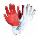 Manusi de protectie antiintepatura, bumbac + cauciuc, marime universala, Gantex Com EM46