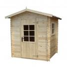 Casuta pentru gradina, cu fereastra, DMP, lemn, 195 cm x 195 cm