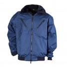 Haina de iarna Gantex ES32 Zembla, poliester, impermeabila, negru + bleumarin, guler din blana, marimea XL