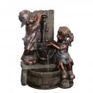 Fantana arteziana Grunman MZ12574AA, decoratiune gradina, cu pompa recirculare apa, 47 x 34.5 x 64.5 cm