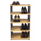 Raft plastic pentru pantofi Mara tip ratan, 5 nivele, 47 x 30 x 58 cm