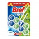 Odorizant wc baie Bref Power Aktiv Pine Fresh, pachet, 2 x 50 g