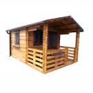 Casuta pentru gradina, cu fereastra, Bran, lemn, 300 x 300 cm
