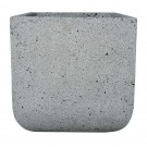 Ghiveci ceramic LC14.021.34.1, gri, patrat, 34 x 34 x 35 cm