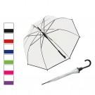 Umbrela ploaie, tip baston, Capri, PVC, transparenta, D 90 cm