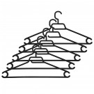 Umerase haine Napochim M2, polipropilena, 42 x 23 cm, negru, set 5 bucati