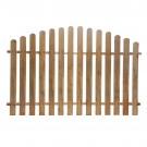 Gard lemn, pentru gradina, convex, 180 x 120 cm