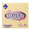 Servetele de masa Puff De Luxe, crem, 2 straturi, 38 x 38 cm