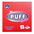 Servetele de masa Puff De Luxe, rosu, 2 straturi, 38 x 38 cm