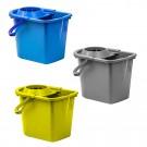 Galeata din plastic cu storcator, diverse culori, 15L