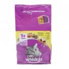 Hrana uscata pentru pisici Whiskas adult, aroma pui 1,4 kg