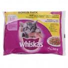 Hrana umeda pisici Whiskas junior, selectie pasare 4 x 100 gr