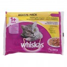 Hrana umeda pisici, Whiskas, adult, selectie pasare, 4 x 100 g
