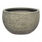 Ghiveci din fibra piatra PL 123350-GSR, gri, rotund, 50 x 30 cm