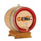 Butoi lemn, pentru vin O-Mac, 10 litri, maro