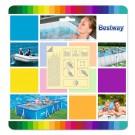Folie autoadeziva pentru reparat piscine gonflabile, Bestway 62091, 6.5 x 6.5 cm, 10 buc