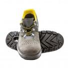 Pantofi de protectie Panda ERG Lambda cu bombeu metalic, piele intoarsa, gri + galben, S1, marimea 44