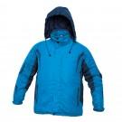 Jacheta de iarna Dalgeco Salcha, poliester, albastra, cu gluga, marimea L