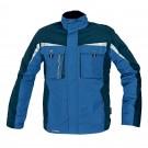 Jacheta de iarna Dalgeco Allyn, impermeabila, nailon, albastra, cu gluga, marimea XXL