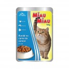 Hrana umeda pentru pisici, Miau Miau, carne somon, 100 g