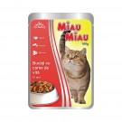 Hrana umeda pentru pisici, Miau Miau, carne vita, 100 g