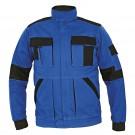 Jacheta de lucru Cerva Max Summer, bumbac, albastru + negru, cu fermoar, marimea 48