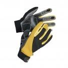 Manusi pentru gradina Marvel Corax FH, imitatie piele + nylon, negru + galben, marimea 9