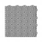 Dala pentru terasa, polipropilena, perforata, cu model, stone grey, 1 mp/pac