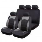 Huse auto pentru scaun, Ro Group, Sport Line, negru + gri, set 9 bucati