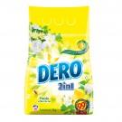Detergent rufe, automat, Dero 2 in 1, frezie si flori de tei, 2 kg