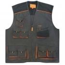 Vesta de protectie Classic, marimea 52, gri inchis + negru + portocaliu