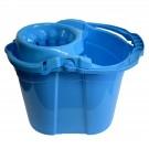Galeata din plastic cu storcator Misavan, albastra, 14L