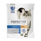 Hrana uscata pentru pisici, Perfect Fit, Indoor 1+, adult, carne pui, 750 g