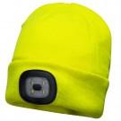Caciula LED Hi Vis B029, acril, galben