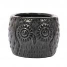 Ghiveci ceramic, negru blossom, 20 x 15 cm