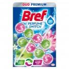 Odorizant wc baie Bref Perfume Switch Aqua Aktiv Apple-Water Lily, pachet, 2 x 50 g