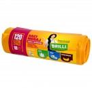 Saci menajeri pentru colectare selectiva super rezistenti galbeni Brilli, 120L, 10 buc