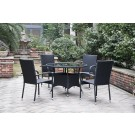 Set masa cu 4 scaune pentru gradina Haiti din metal cu ratan sintetic