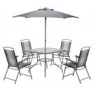 Set masa cu 4 scaune si umbrela Charleston