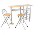 Set masa fixa cu 2 scaune bucatarie XJH-0061B fag