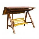 Balansoar din lemn pentru 3 persoane 300x220x220 cm