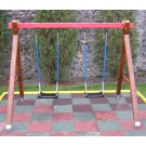 Leagan copii, cu 2 scaune, structura lemn, HL.01.01, 280 x 190 x 214 cm