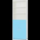 Dulap camera tineret Natalia, cu 2 usi + rafturi, albastru + alb, 80 x 215 x 35 cm 1C