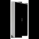Dulap dormitor Stefan alb + negru, 2 usi cu bara, 105.6 x 55 x 225 cm 2C