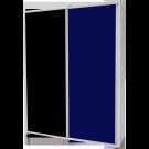 Dulap dormitor Stefan alb + negru + albastru, cu 2 usi glisante, 180 x 55 x 225 cm 3C